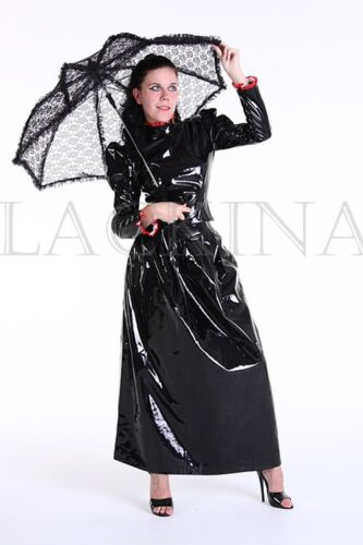 S langes Lackina 4 Lacquer Costume Tg Nero Xl dXXBaxr