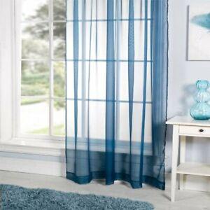 Emma-Barclay-One-Plain-Voile-Curtain-LUCY-153-x-183-cms-60-x-72-034-TEAL-NEW