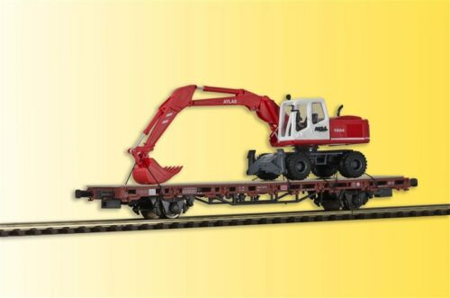 Kibri 26258 vagones baja bordo carro con atlas radbagger h0