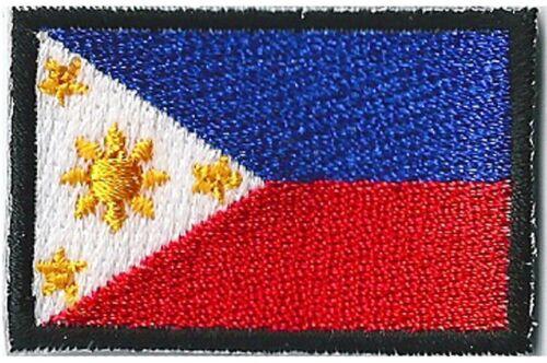 Ecusson patche Philippines petit patch 45x30 mm brodé thermocollant