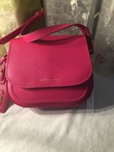 b0d96a67ee89 NWOT Marc Jacobs Rider Leather Crossbody Bag MSRP  295 In Begonia ...