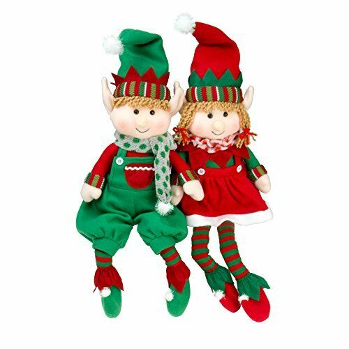 2 Naughty elves girl /& boy elf behaving badly on the shelf Christmas 30cm 12/""