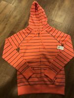 Women's Lilu Pac Sun Coral Zip Up Hoodie Sweater Size Small