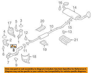 NISSAN OEM Exhaust-Front Pipe Gasket 2069119U0A