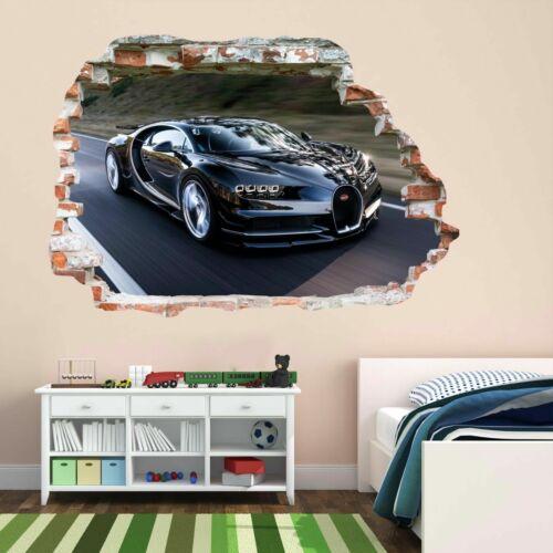 Bugatti super sports voiture autocollant mural décoration murale autocollant enfants chambre à coucher maison bureau BC12