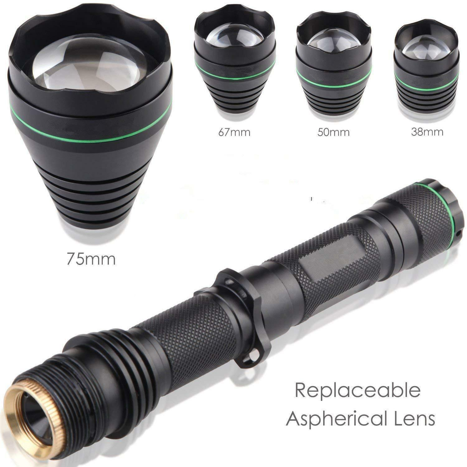 UF 1508 T75 IR 940NM  Zoomable Flashlight 3 Mode NV Torch+38MM 50MM 67MM Lens Kit  authentic quality