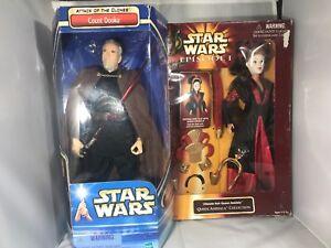 Star Wars Comte Dooku Action Figure attaque des clones et Queen Amidala Set