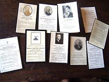 LOT FAIRE PART DE DECES  noblesse entre 1900 et 1947