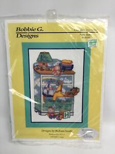 Counted Cross Stitch Kit New Baby by Barbara Smith 10.5 x 7 In NB1699 Name Date