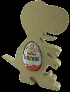Dinosaurio Rex Paquete de 5 Soporte de huevo para Mdf Kinder Pascua Regalo Artesanía