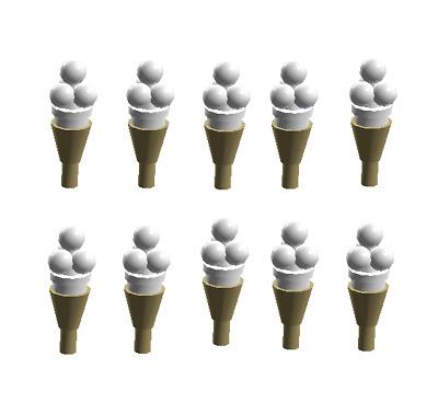 Lego Ice Cream Cone Tan Lot of 5