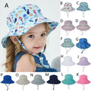 Kids Baby Boys Girls Summer Sun Protection Hat Sunscreen Cap Hat Fisherman/'s Hat