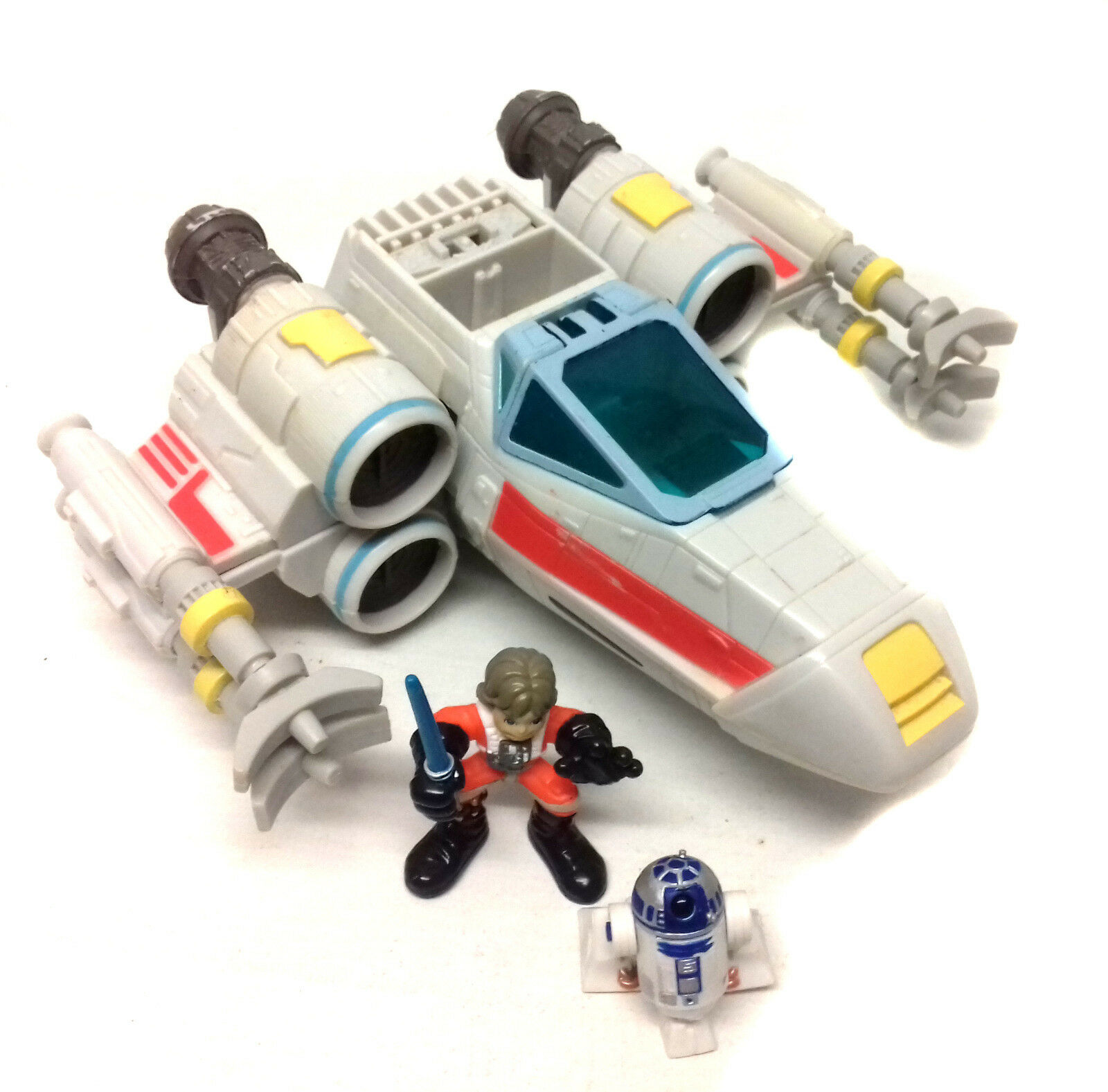 Star Wars Galactic Galactic Galactic Heroes Playskool X WING FIGHTER vehicle toy + LUKE toy figure 1750bf