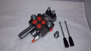 Handhebel-Ventil-2-fach-2-x-DW-m-Schwimmstellung-40-l-min-Steuergeraet-Frontlader
