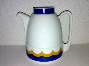 Vintage-70s-80s-Schirnding-Bavaria-Kaffeekanne-Teekanne-Kanne-Porzellan-Design