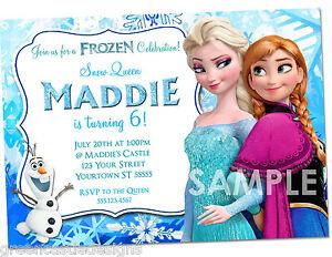 Frozen invitations printed frozen birthday party invites image is loading frozen invitations printed frozen birthday party invites amp filmwisefo