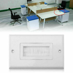 1-2-3-Single-Gang-Bristles-Brush-Wall-Plate-Port-Insert-Cover-Outlet-Mount-Panel