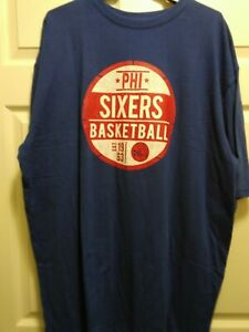 hot sale online bf9ba 3b989 Details about Philadelphia 76ers Shirt Men's XXL