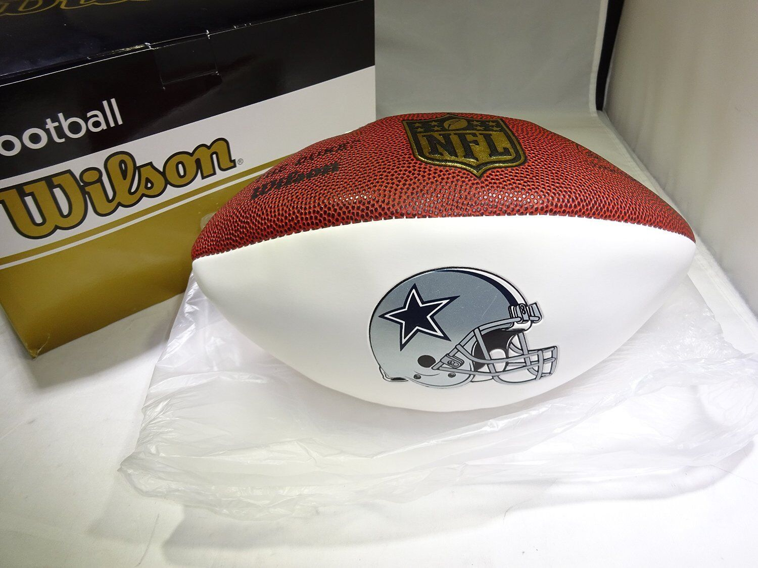 Wilson  The Duke  Official NFL Game Football Dallas Cowboys Autograph Series