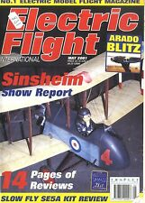 ELECTRIC FLIGHT MAGAZINE 2001 MAY ARADO BLITZ, SWIFT 400, GRAUPNER TERRY