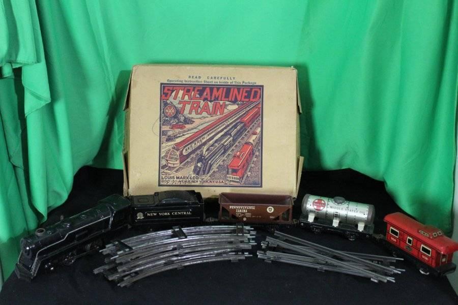 Vintage Marx mecánico New York Central optimizada Train Set Tren