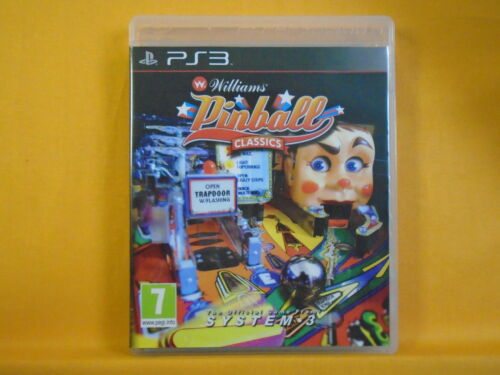 1 of 1 - ps3 WILLIAMS PINBALL CLASSICS Game Awesome Graphics/Gameplay Playstation PAL