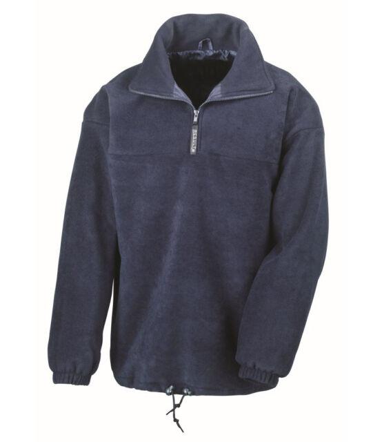 Result Tech 3 Zip Neck Sport Fleece XS-XXL Mens in Contrast Top colour variation