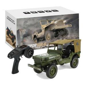 4wd Camion 1:10 Mini Jeep Militaire Télécommande Buggy Hors Route Avec Tente