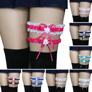 NE-CO-2Pcs-Set-Women-Bowknot-Lace-Garter-Sexy-Bridal-Leg-Garter-Cosplay-Decor