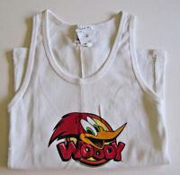 Girls Size 10 Woody Woodpecker Tank Top White 100% Cotton Shirt Top