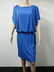 NEW-Jessica-Simpson-Size-20W-Sleeveless-Short-Split-Dress-Blue-118
