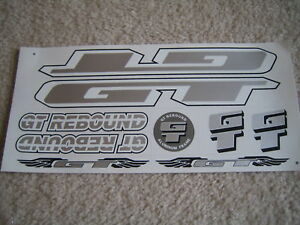 GT Rebound Stickers White Black /& Silver.