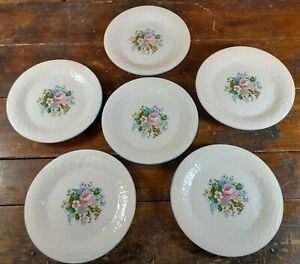 Set-of-6-Salad-Plates-Victorian-Rose-Tabletops-Unlimited-Dinnerware-China-7-75-034