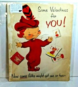 Vintage-Norcross-Pixie-1950-039-s-King-Size-Pop-Up-Valentines-Day-Card