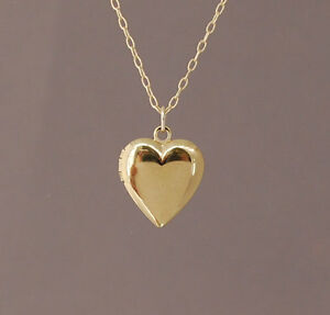 Small Gold Heart Locket Pendant Charm Necklace Also In Silver And