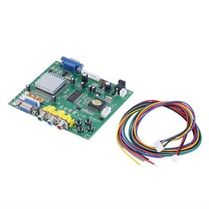 New-RGB-CGA-EGA-YUV-to-VGA-HD-Video-Converter-Board-Moudle-HD9800-GBS8200-GO