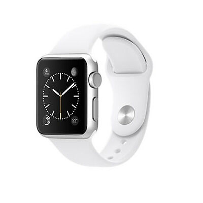 New SEALED Apple Watch iWatch 38mm Series 1 Silver Aluminum White Sport Band