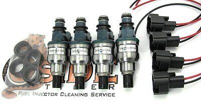 500cc Honda Civic Integra Turbo D16 B16 B18 H22 Fuel Injectors JDM D15B ZC VTEC