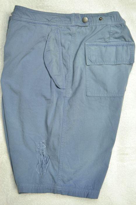 Polo Ralph Lauren Grey bluee Big Pony Swim Trunks NWT XL