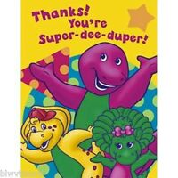 Barney 8 Pack Thank You Notes