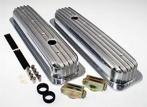 SBC-Short-Chevy-Aluminum-Finned-Retro-Valve-Covers-Vortec-Center-Bolt-350-305