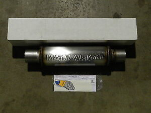 Image is loading New-Magnaflow-Universal-Stainless-Steel-Muffler-10416-2-