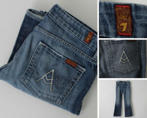 Women-039-s-Seven-7-for-all-Mankind-Jeans-Denim-Size-27-31-x-31-flare-Sevens