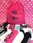 VICTORIA'S SECRET PINK Knee High Tall Socks & Drawstring Backpack Gift Set