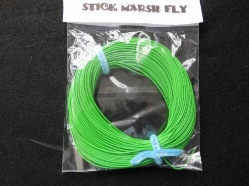STICK MARSH FLY LINE WF-3-F  WITH EXPOSED LOOP ON LEADER END  DARK GREEN