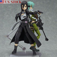2pcs Sword Art Online SAO Asuna Kirito Action Figure Figma Figurine Toy Gift