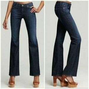 AG Adriano Goldschmied The Jessie Curvy Boot Cut Fit Blue Jeans Denim Size 26R