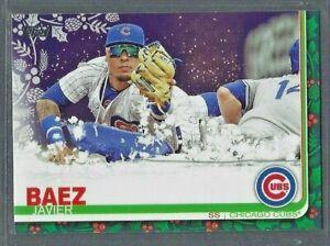 Javier-Baez-2019-Topps-Holiday-Baseball-Snow-Sled-Variation-SP-HW109
