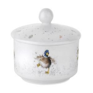 Royal-Worcester-Wrendale-Cubierto-Azucarera-Maceta-con-Tapa-Porcelana-Pato-Pais