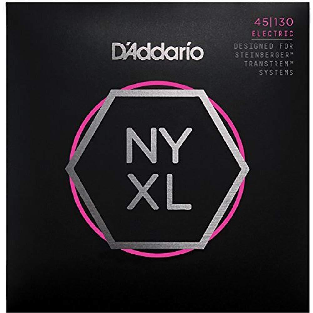 D'Addario NYXLS45130 Nickel Bass Saiten, Doppel Kugelkopf 5 Saiten Set - 45-130